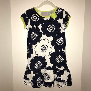 Carters t-shirt dress with double ruffle at bottom